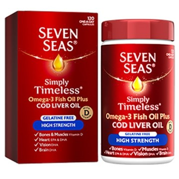 Seven Seas High Strength Once A Day Capsules 120`s