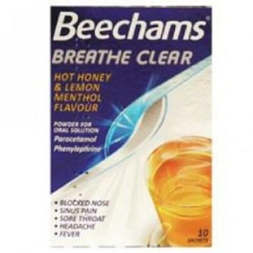 Beechams Breathe Clear Hot H & L Menthol Flavour Sachets 10`s