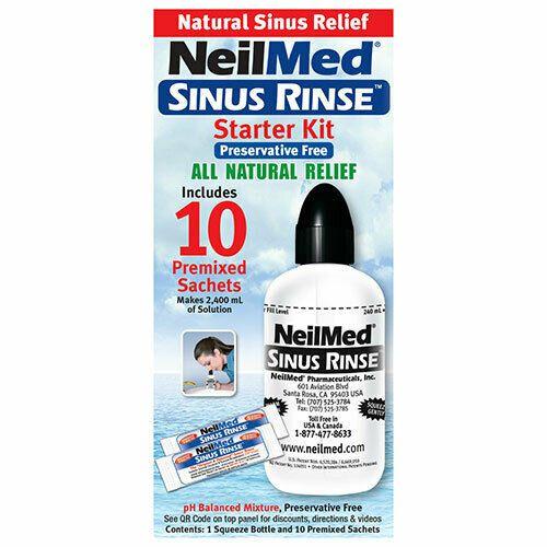 Neilmed Sinus Rinse Starter Kit 10 Premixed Sachets