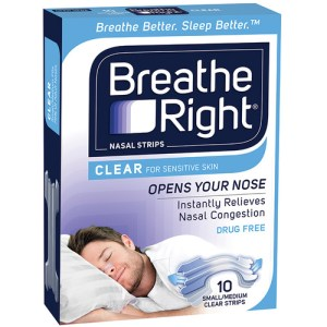 Breathe Right Nasal Strips Clear Regular 10