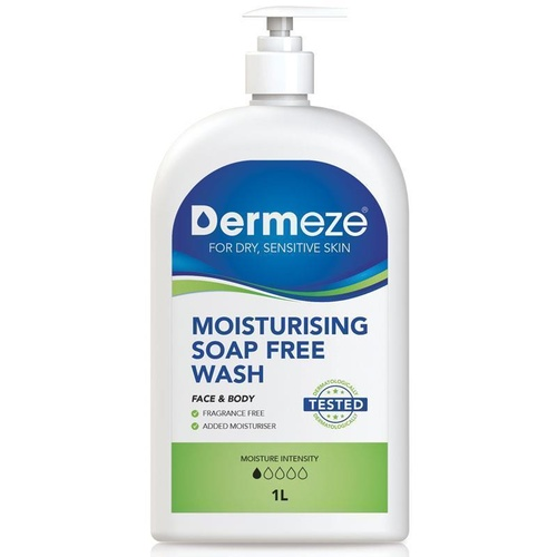 Dermeze Moisturising Soap Free Wash 1L