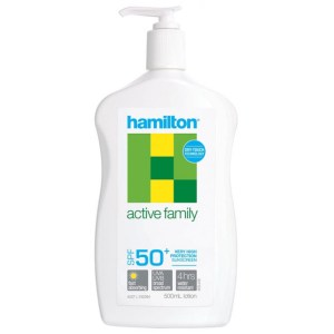 Hamilton Active Family Sunscreen SPF50+ Lotion 500ml