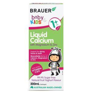Brauer Baby & Kids Liquid Calcium with Magnesium and Zinc 200mL