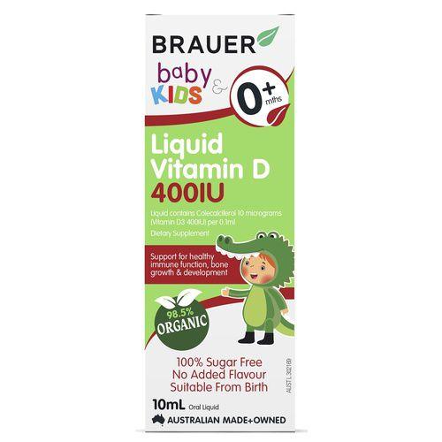 Brauer Baby & Kids Liquid Vitamin D 400IU 10mL