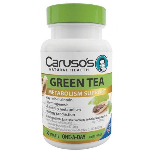 Carusos Green Tea 50 Tablets
