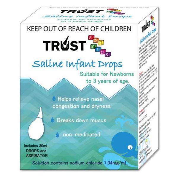 Trust For Kids Saline Infant Drops & Aspirator 30ml