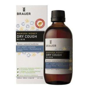 Brauer Dry Cough Manuka Honey Elixir 200mL