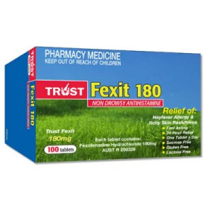 Trust Fexit 180mg 100 Tablets