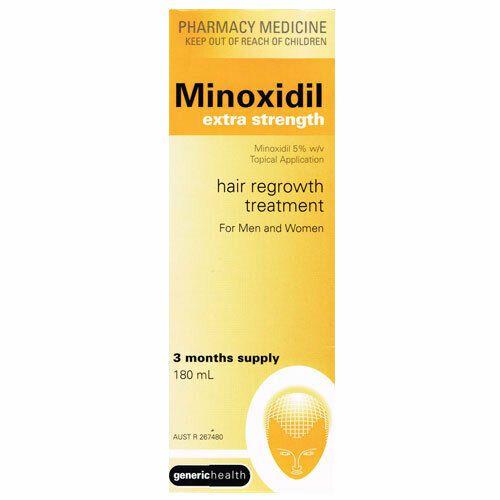 Minoxidil Extra Strength 5% 180ml (3 Month Supply) Regaine Hair Loss Treatment