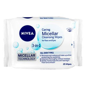 Nivea Daily Essential Micellar Facial Cleansing Wipes 25Pack