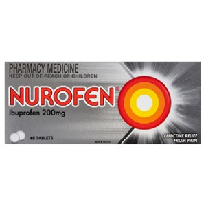 Nurofen Ibuprofen Pain Relief Tablets 200mg – 48 Tab