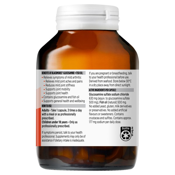 Blackmores Glucosamine + Fish Oil 90 Capsules (OOS CHECKED 17/07 – POWELL) 5