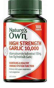 Nature's Own High Strength Garlic 10000mg