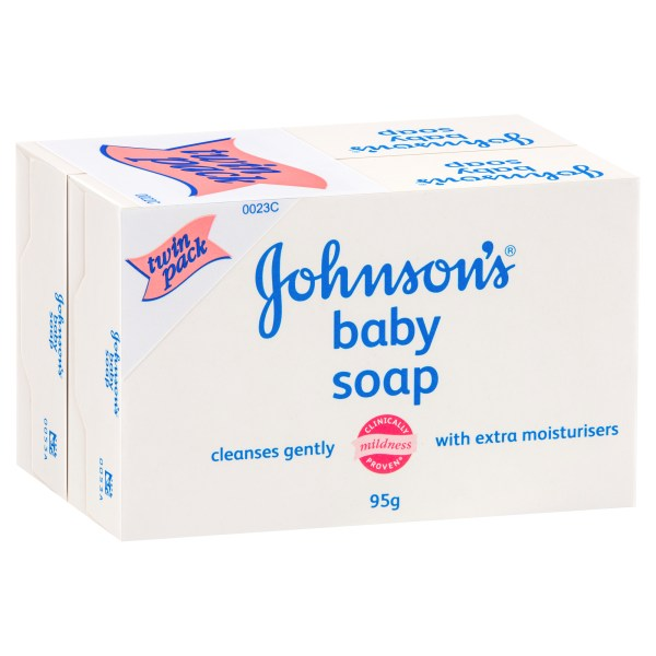 Johnson's Baby Soap Bar Twin Pack 2 x 95g 3