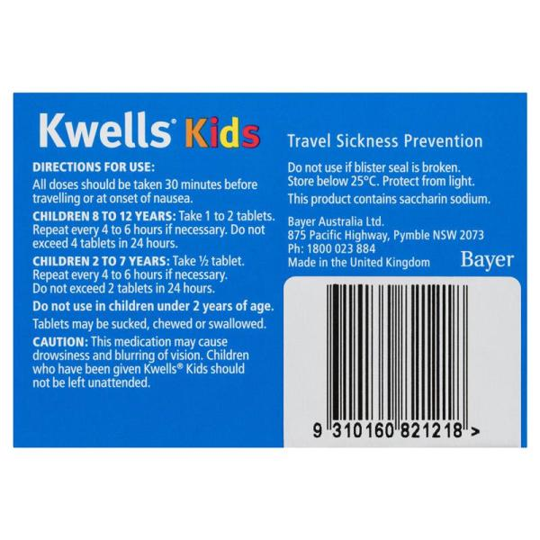 Travel Sickness 12 Kids Chewable Tablets 4