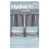 Hydralyte Colour Free Liquid 4x250ml 4