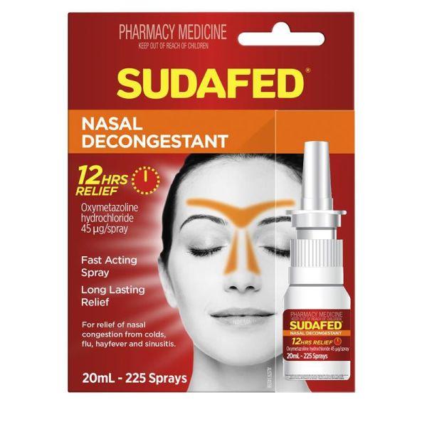 Sudafed Decongestant Nasal Spray 20ml 3