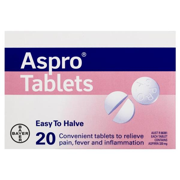 Clear Aspro Pain Relief 20 Tablets 8