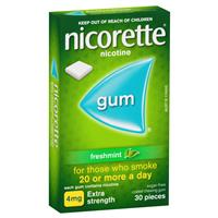 Nicorette Quit Smoking Chewing Gum 4mg 30 Pieces