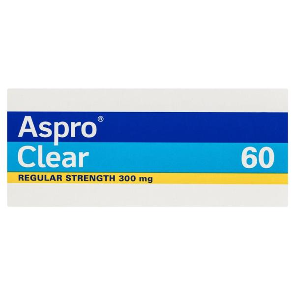 Aspro Clear Pain Relief 60 Soluble Tablets 8