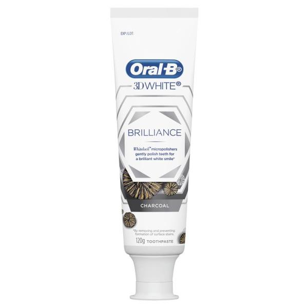Oral B Toothpaste 3D White Brilliance Charcoal 120g 8