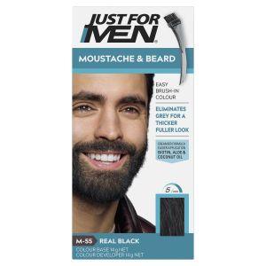 Just For Men Moustache & Beard Brush-In Colour Gel Real Black