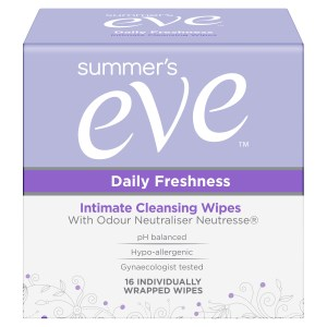 Summer's Eve Daily Freshness Intimate Cleansing Wipes with Odour Neutraliser Neutresse 16 Pack