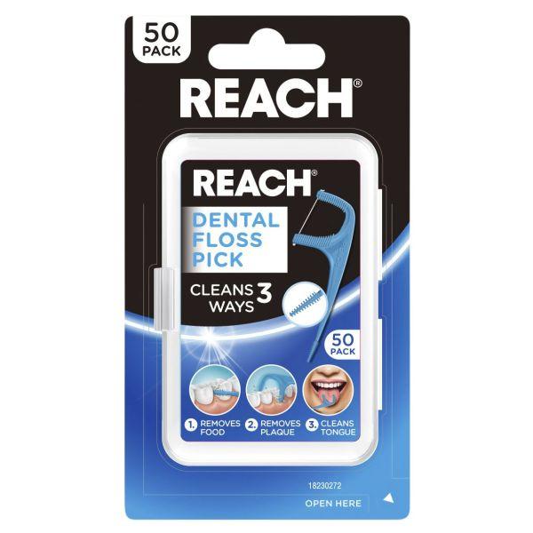 REACH® Dental Floss Pick 50pk 3