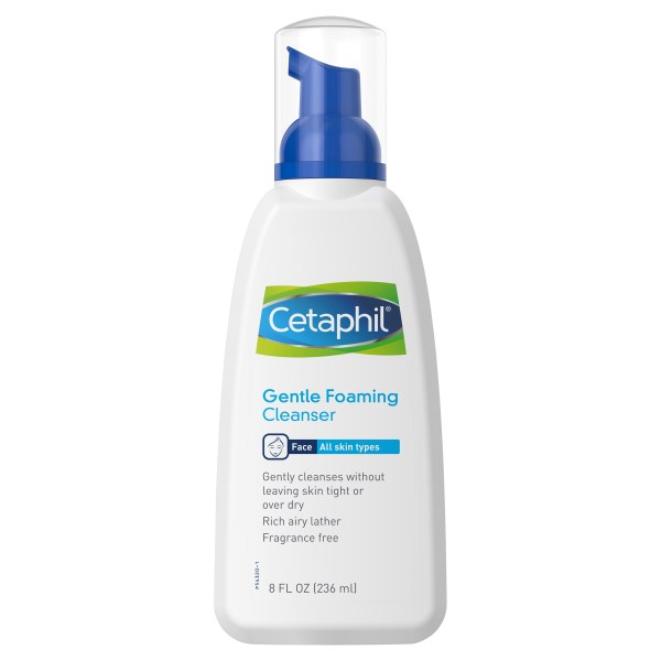 Cetaphil Face Gentle Foaming Cleanser 236mL, All Skin Types