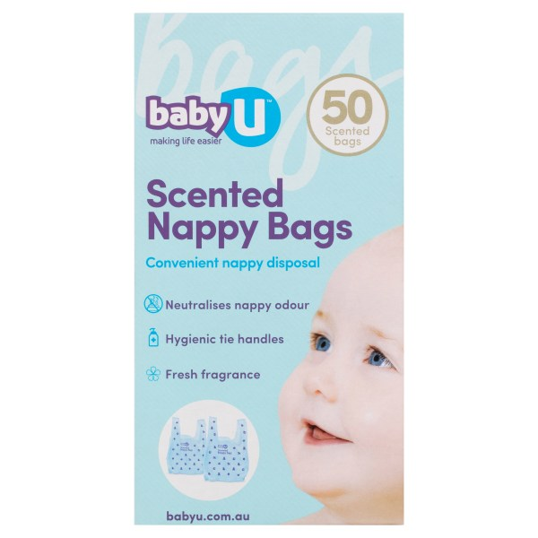 BabyU Scented Nappy Bags 50 Pack 3