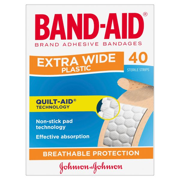 Band-Aid Brand Extra Wide Plastic Strips 40 Pack 3