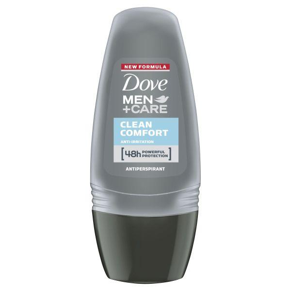 Dove Men Antiperspirant Roll On Deodorant Clean Comfort for 48 hour protection 50ml 1 3