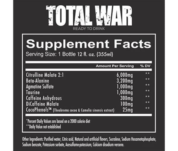 Redcon1 Total War Ready To Drink Pre-workout RTD 355ml – 12 Pack 4