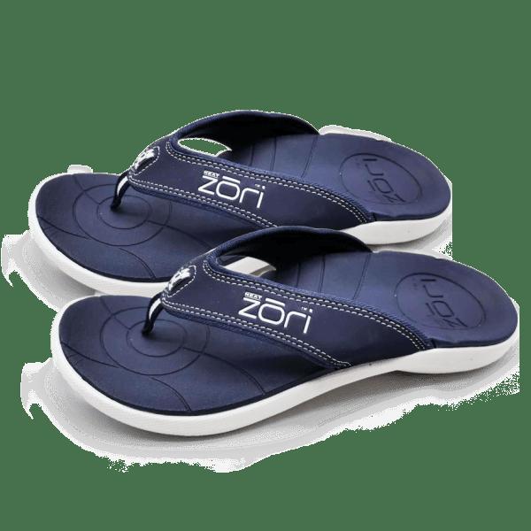 Neat Feat Zori Orthotic Thongs Navy/White 3