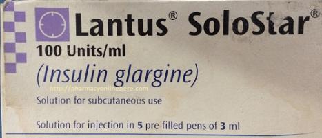 Lantus Solostar Insulin Insuline Glargine Uses Dosage