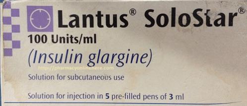 Lantus Solostar Insuline Glargine Uses Dosage Side Effects