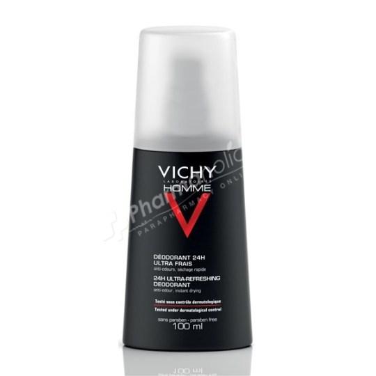 Vichy Homme Ultra-Refreshing Deodorant Spray -100ml-