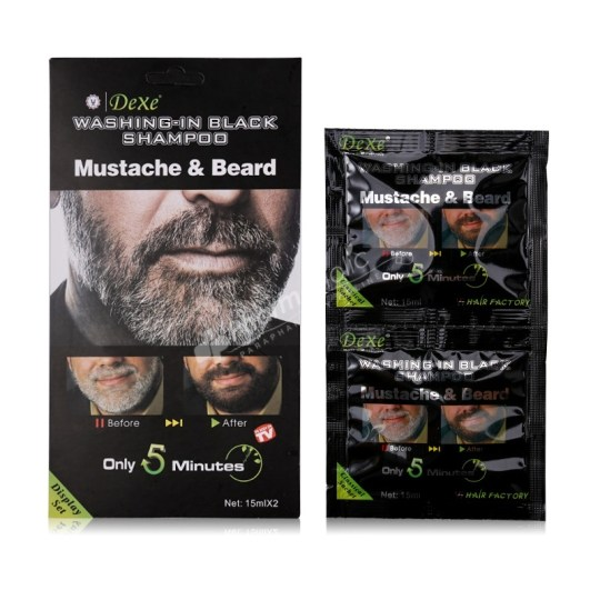 Dexe Washing-in Black Shampoo, Mustache and Beard
