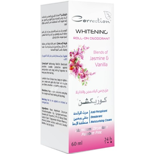 Correction Herbal Actives Whitening Roll-On Deodorant Jasmine & Vanilla