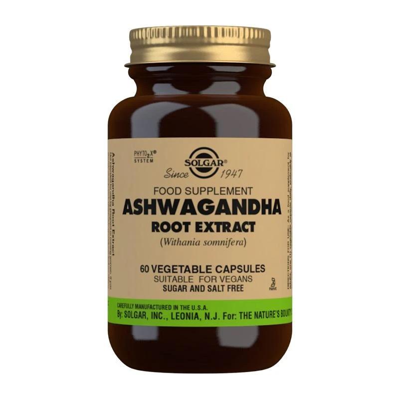 solgar ashwagandha root extract 60 capsules  pharmaholic