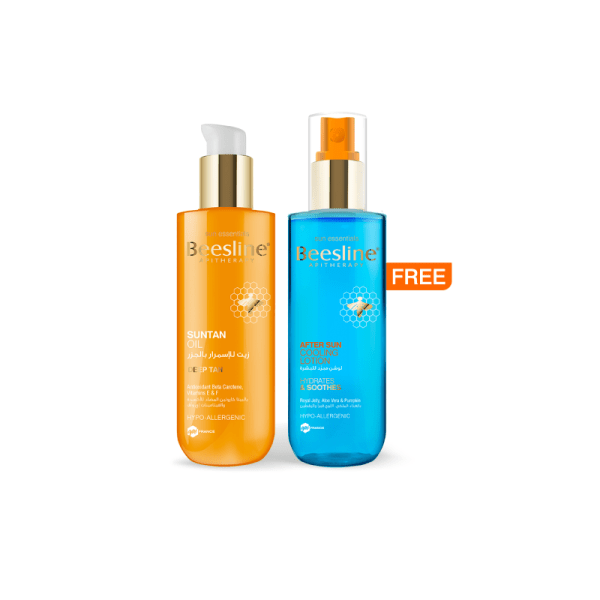Beesline Sun Tan Oil+ Free After Sun Cooling Lotion