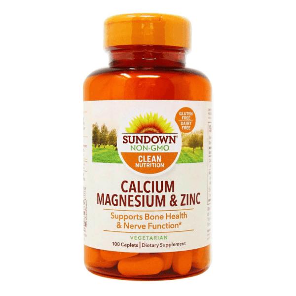 Sundown Non-Gmo Calcium Magnesium & Zinc 100 Caplets