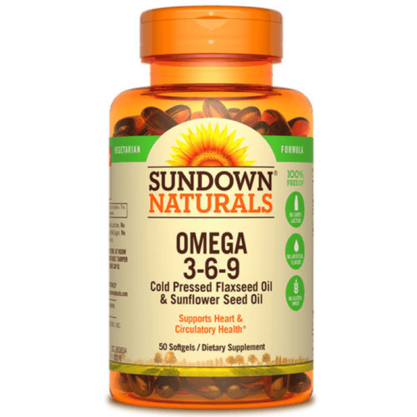 Sundown Naturals Omega 3-6-9 50 Softgels