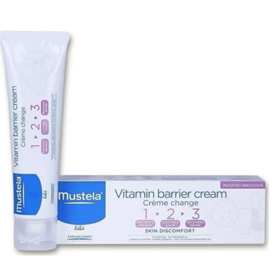 Mustela 1 2 3 Vitamin Barrier Cream 50ml