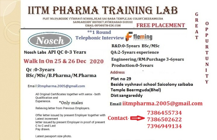 Nosch Labs Walk In 25th and 26th Dec 2020 for Freshers and Experienced