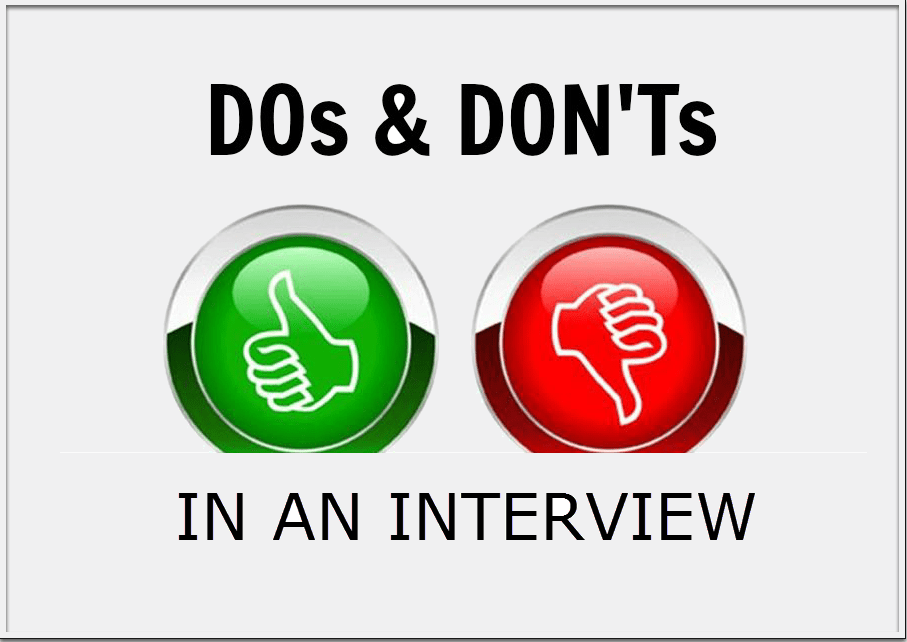 Top 20 Dos and Donts of Interviewing In The BioPharma