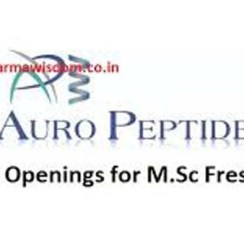 Freshers: Auro Peptides Ltd (Aurobindo Pharma) Walk In On 27th Feb' 2021