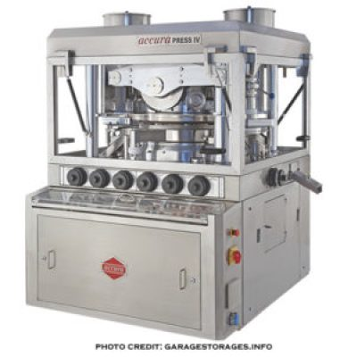 Multi-station tablet press-a picture of a rotary-tablet press