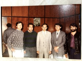 With Dr. Javed ur Rehman and others after the presentation