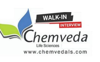 Chemveda Life Sciences – Walk-In Drive for Multiple Positions in R&D / Process R&D on 2nd Oct' 2021